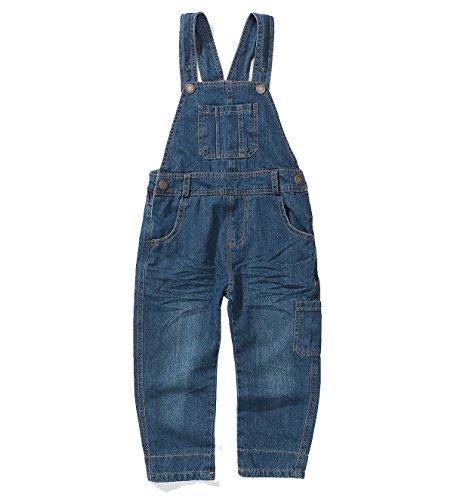 Boy Girl Overalls (Encontrar Boys Girls Thin Type Bib Denim Overalls Blue 7)