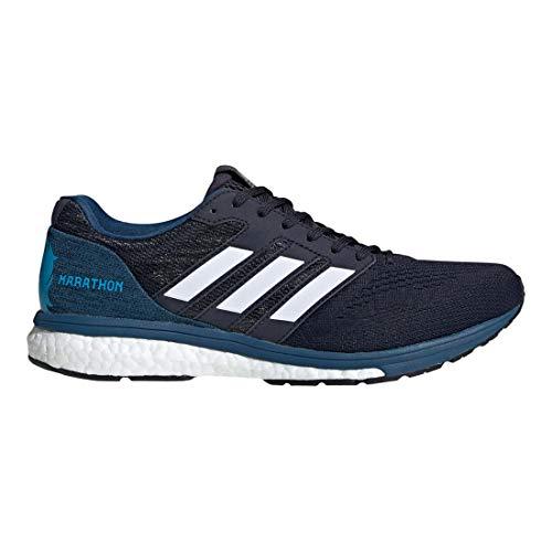 adidas Men's Adizero Boston 7 Running Shoe - Boston Marathon - Color: Legend Ink/Feather White (Regular Width) - Size: 9
