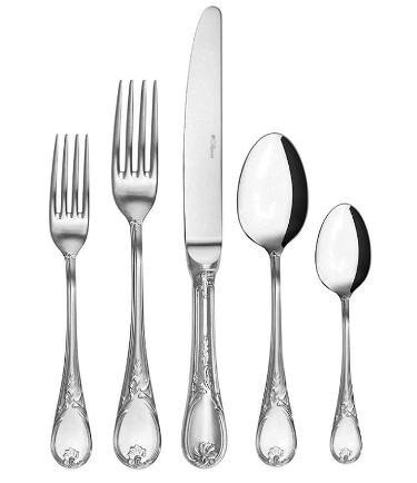 Guy Degrenne - Marquise 5 Piece Flatware Set, Stainless Steel Mirror Finish (Guy Degrenne Mirror)