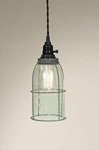 Half Gallon Caged Mason Jar Pendant Lamp – Barn Roof
