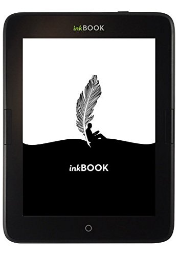 inkBOOK Obsidian - eReader (6 Zoll) hochauflösendes Display (212 ppi) E Ink Carta Flat Glass Solution mit integrierter Beleuchtung, Android AppStore, Wi-Fi (WLAN), 8 GB SD-Karte slot