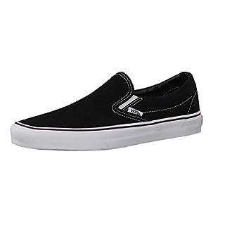 """Vans """"Slip-On Sneakers (Black) Unisex Canvas Slip On Vulc Skate Shoes"""