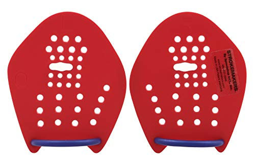 Strokemakers Swimming Training Paddles (Size 0, RED)