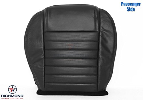 Richmond Auto Upholstery 2005 2006 2007 2008 2009 Ford Mustang GT - Passenger Side Bottom Replacement Leather Seat Cover, Black