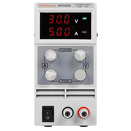 Haitronic HPS605D, adjustable switching DC Power Supply, precise variable DC 0~60V @ 0~5A OUTPUT, 3 Digital Display with Alligator Cable and Power Cord by Haitronic (Image #2)