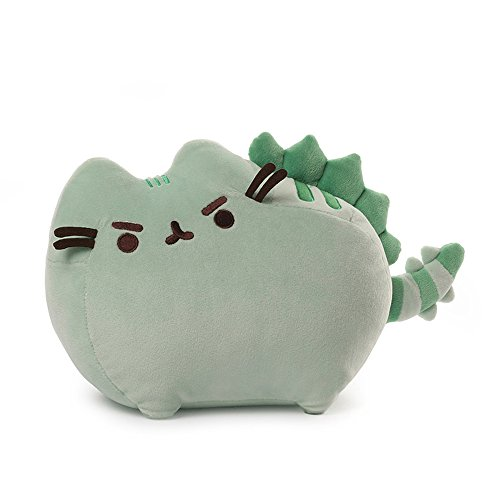 GUND Pusheen Pusheenosaurus Dinosaur Cat Plush Stuffed Animal, Green, 13