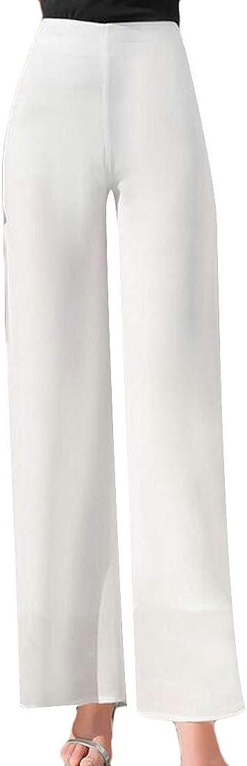 Keaac Women Fashion Slim High Waist Palazzo Wide Leg Pant Split Lounge Pants