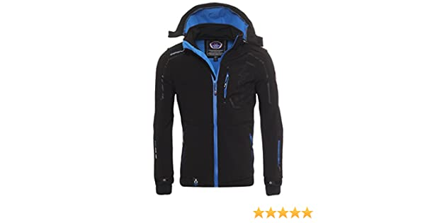 Canadian Peak by Geographical Norway - Chaqueta de forro polar para exterior, color negro, tamaño M: Amazon.es: Ropa y accesorios
