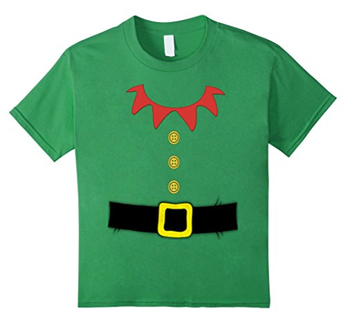 Kids Santa Elf Costume Holiday Christmas Shirt for Kids & Adults 10 Grass (Toddler Leprechaun Costume Boy)