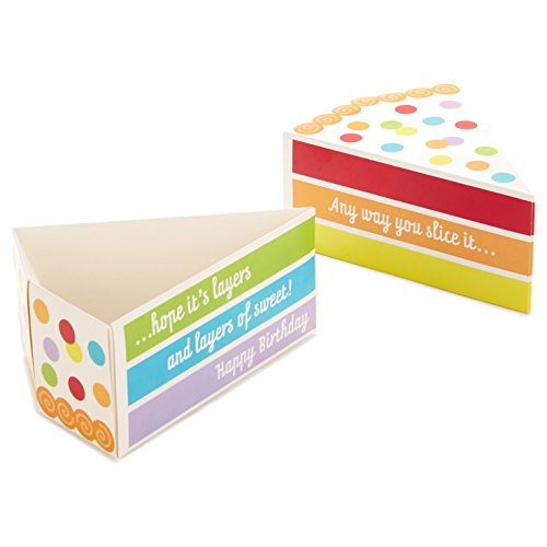 Large Product Image of Hallmark Gift Card Holder (Piece of Cake Miniature Gift Box)