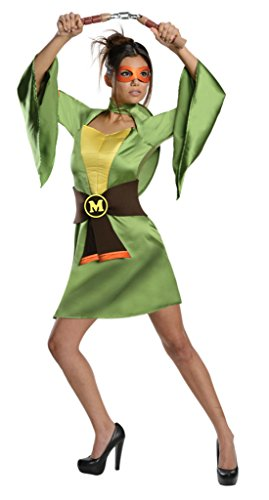 Rubies Womens Tmnt Michelangelo Halloween Theme Party Fancy Costume, S (4-6)