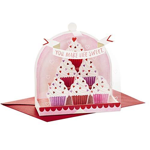 Hallmark Paper Wonder Valentines Day Pop Up Card (Cupcakes Valentine)