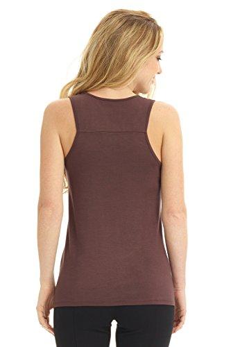 Camiseta nadadora tela suave de mujer Rekucci. Espresso