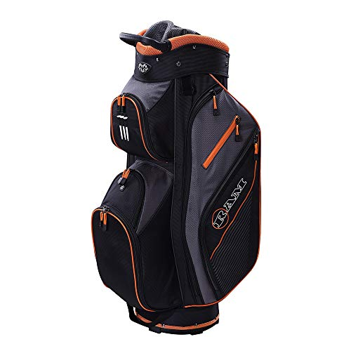 Ram Golf Lightweight Trolley Bag with 14 Way Dividers Top