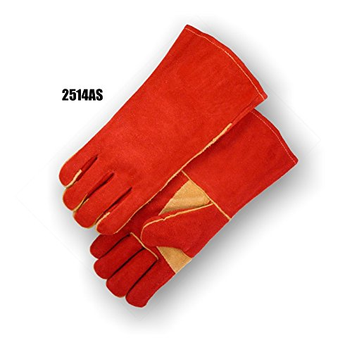 (12 Pair) Majestic WELDING GLOVE WITH THUMBSTRAP - 0, RUST(2514AS) by Majestic Athletic (Image #1)