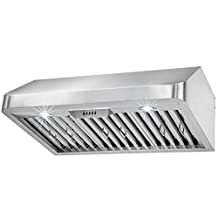 "FIREBIRD 30"" Under Cabinet Stainless Steel Kitchen Range Hood Vent (Push Control)"