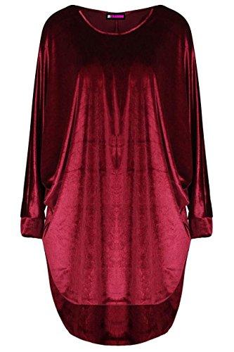 21fashion Dames Des Femmes Des Velours Velours Batwing Longue Robe Ample À Manches En Velours Surdimensionné Velour Haut Salut Lo Vin Robe Bouffante