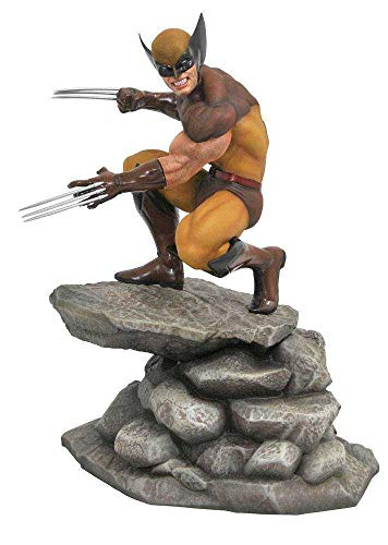DIAMOND SELECT TOYS APR182171 Marvel Gallery, Wolverine PVC Diorama Figure, 9 inches, Multicolor