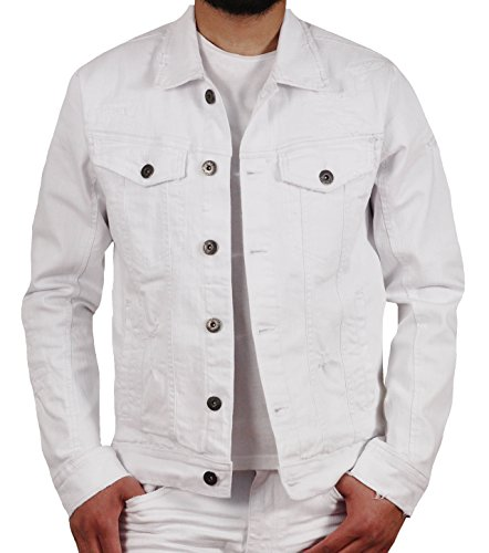 Jordan Craig Louisville Distressed Denim Trucker Jacket by Jordan Craig
