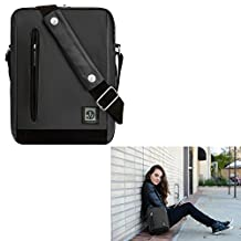 "Premium Tablet Sleeeve Shoulder Bag Messenger Bag 10.1"" for iRulu Walknbook 2 / eXpro X1s 10.1"" / Walknbook 10.1"" / Motorola Xoom 10.1"" / Sony Xperia Z4 / Toshiba Encore 2 10.1"" (Gray/Black)"