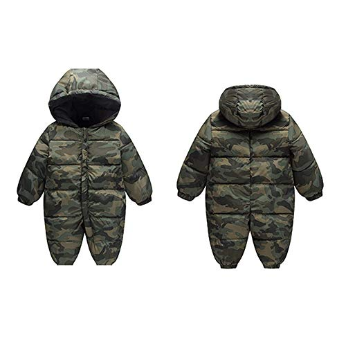 Boy Jumpsuit Girl Snowsuit Thick Winter Hood Outwear Romper Baby Fairy camouflage Warm Infant HEqOOT