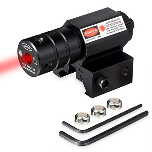 RUNACC Tactical Red Dot Laser Sight Scope with Picatinny Rail Mount, for Pistol Rifle ... (Laser Gun Sight)