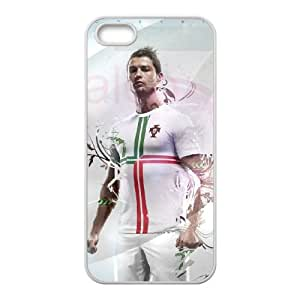 Sports cristiano ronaldo 2 iPhone 5 5s Cell Phone Case White gift pjz003-9401993