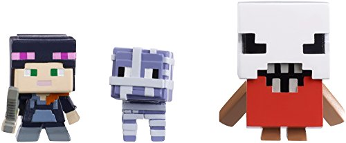 - Mattel Minecraft Halloween Series Action Figure (3 Pack) - Alex with Hoodie, Mummy Sheep & Bedlam