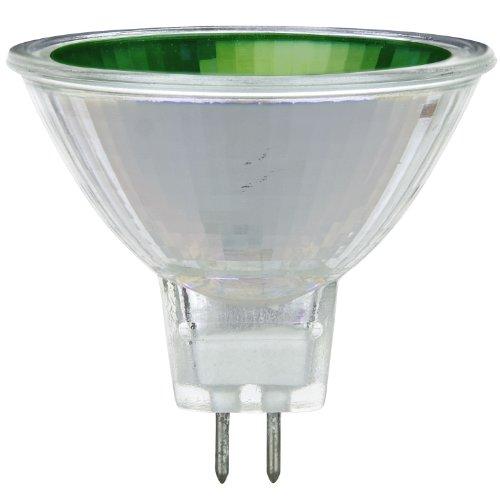 Sunlite 50MR16/NSP/12V/G 50-Watt Halogen MR16 GU5.3 Based Mini Reflector Bulb, Green