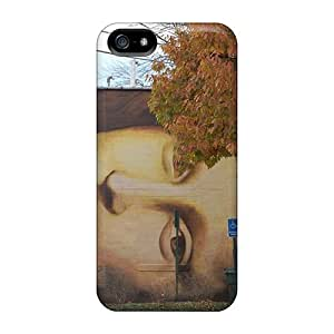 Case For Sam Sung Galaxy S5 Cover Protector Case Mona Lisa Mural Phone Cover