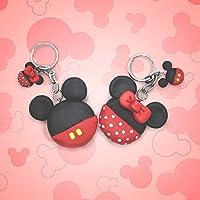 Pareja de llaveros de Mickey y Minnie