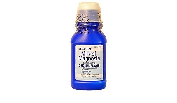 Amazon.com: MAJOR MILK OF MAGNESIA ORIG MAGNESIUM HYDROXIDE-400 MG/5ML White 12OZ UPC 309040788146 by Major Pharmaceuticals: Health & Personal Care
