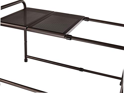 Kitchen SimpleHouseware Under Sink 2 Tier Expandable Shelf Organizer Rack, Bronze (expand from 15 to 25 inches) under-sink organizers
