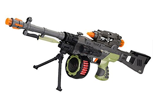 LilPals 28 Inch Rapid Fire Commando Recon II Toy Machine Gun – With Dazzling Light, Amazing Sound & Unique Action