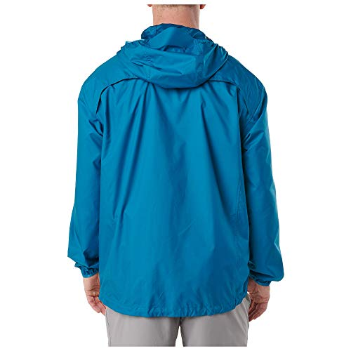 5.11 Tactical Men's Cascadia Windbreaker Packable Hooded Jacket, Lightweight Polyester, Style 48339