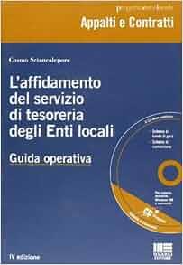 affidamento del servizio di tesoreria degli enti locali. Con CD-ROM