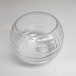 Clear Glass Wave Fish Bowl 7\