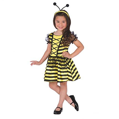 Morph Girls Honey Bee Fairy Costume, Yellow, Large -