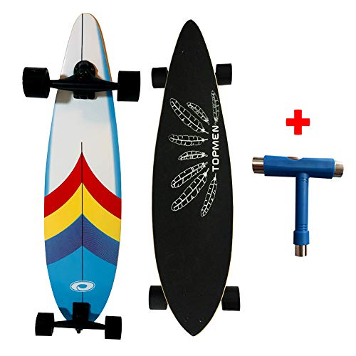 loadshine Pintail 38 Inch Cruiser Longboard Complete Skateboards for Adults Kids Beginners,Ready to Ride Out of The -