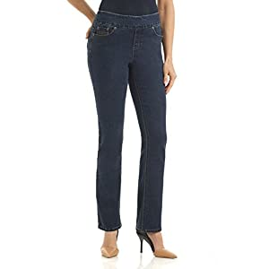 Rekucci Jeans Women's Ease in to Comfort Fit Stretch Straight Leg Denim Pants