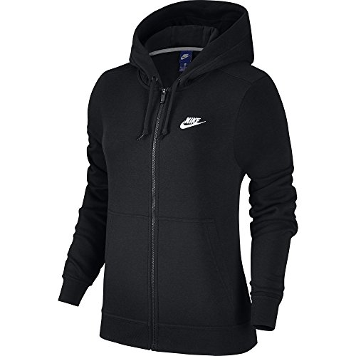 ar Full Zip Fleece Hoodie, Black/Black/Black/White, X-Small (Nike Classic Training Jacket)