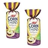 Real Foods Organic Multigrain Corn Thins, 5.3 Ounce - 6 per case.