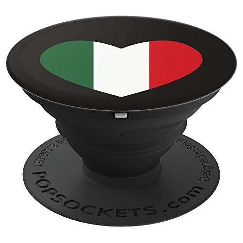 Heart With Italian Flag colors - PopSockets Grip and Stand for Phones and Tablets