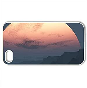 MIDNIGHT SUN - Case Cover for iPhone 4 and 4s (Sky Series, Watercolor style, White)