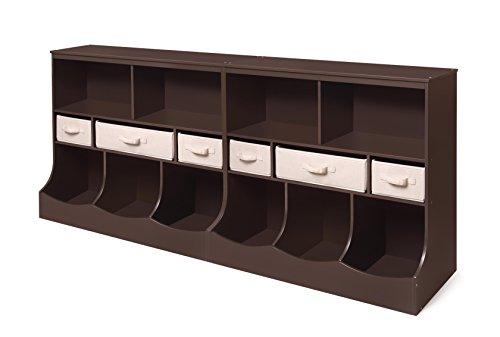 Badger Basket Combo Bin Storage Unit with Three Baskets, Espresso by Badger Basket (Image #4)