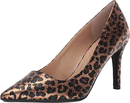 J.Renee Womens Alipha Pump (8.5 M US, Gold/Black Animal Print)