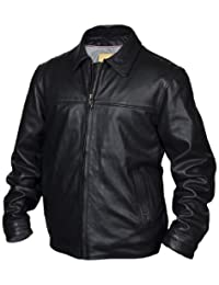 STS Ranchwear Men's The Rifleman Leather Jacket (Black Angus, X-Large)