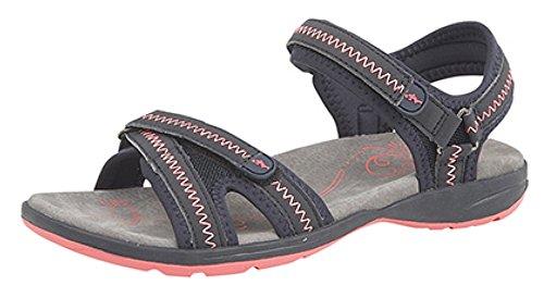 PDQ - Sandalias de vestir de Material Sintético para mujer azul marino/rosa