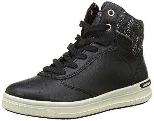 Geox Para Negro Zapatillas black Niñas Aveup Altas J C rwxpTqSr