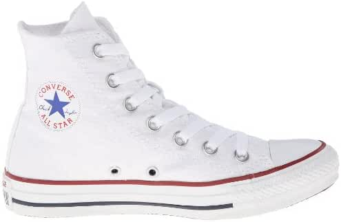 Converse Unisex Chuck Taylor All Star Hi Canvas Sneakers (9 D(M) US, Optical White)